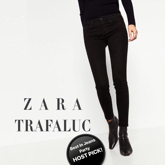 90016ec8 ZARA🏴Trafaluc TRF black super skinny jeans Sz 2. M_5b9ae76710fc54c177536f01